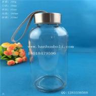 370ml手提玻璃水杯