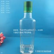 500ml厚底方形橄榄油玻璃瓶