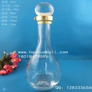 500ml高档水滴玻璃酒瓶