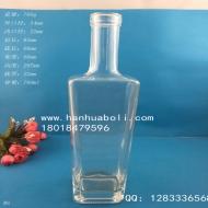 750ml方底晶白料红酒玻璃瓶