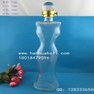 750ml高档美女玻璃酒瓶