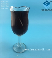 150ml玫瑰花玻璃酒杯