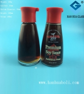 150ml烤花酱油醋玻璃瓶