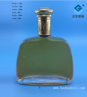 750ml出口玻璃洋酒瓶