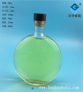 300ml扁圆玻璃酒瓶