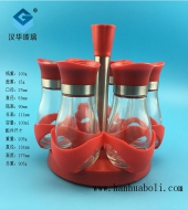 100ml大红色胡椒粉玻璃瓶套装